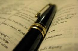 writing scripture