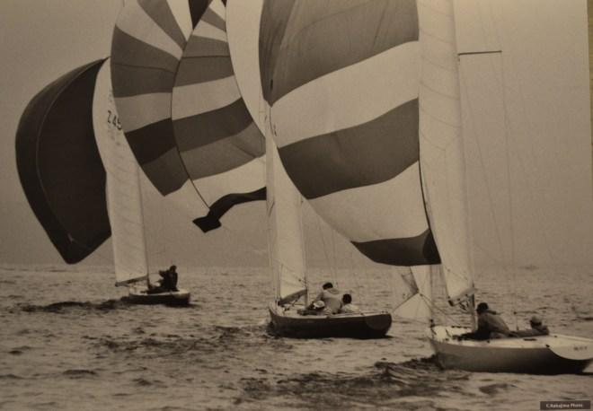 Photograph by Fusanori Nakajima: 5.5 meter competition at 1964 Tokyo Olympics