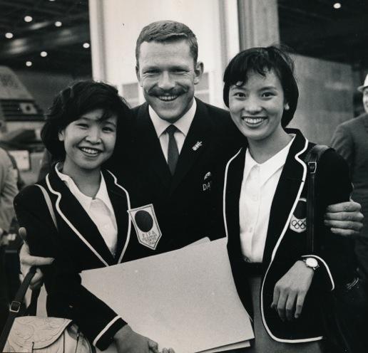Soren Svejstrup, greeted in Tokyo upon arrival (from the collection of Soren Svejstrup)