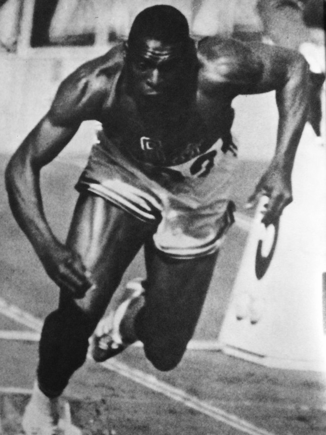 """Bob Hayes, from the book """"Tokyo Olympiad 1964_Kyodo News Service"""""""