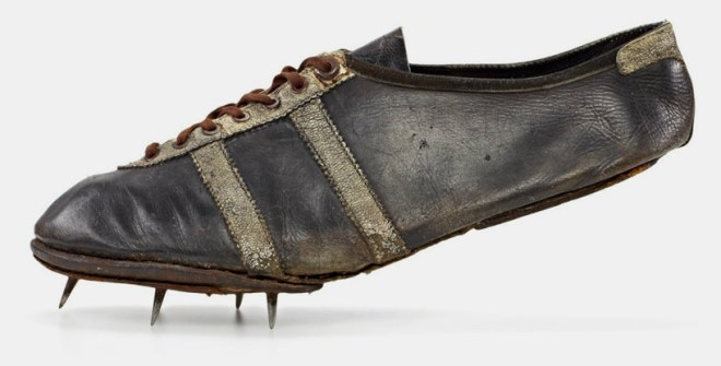 james cleveland owens – modell waitzer – 1936, sprint shoe worn at the olympic games in berlin; shoe size: 7,5 (uk), 162 g image © adidas