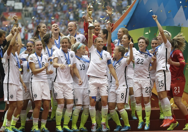 US Women Celebrate 2015 World Cup Victory
