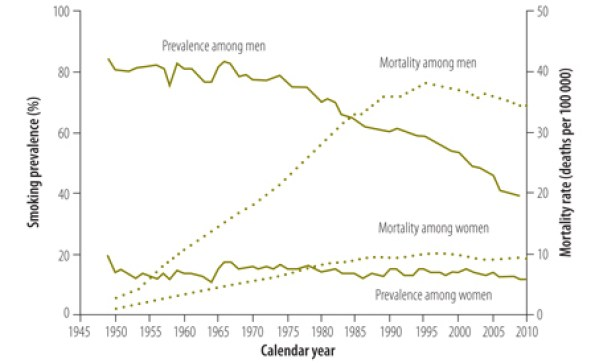 cigarette consumption and lung cancer mortality rates