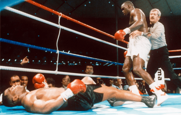 Buster Douglas knocks out Tyson