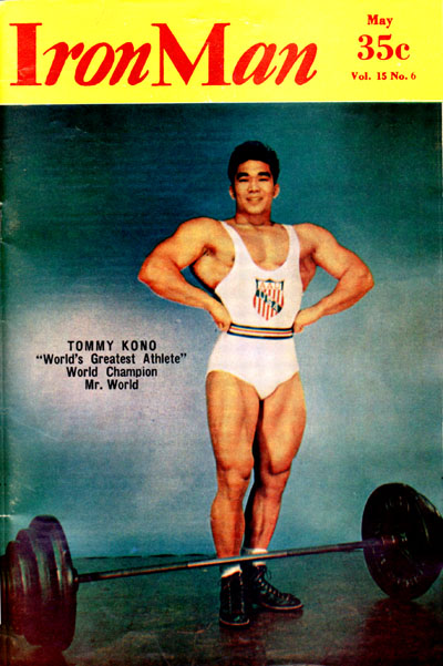 Tommy Kono Iron Man cover