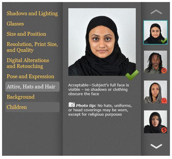US Passport Photo Rules Headgear