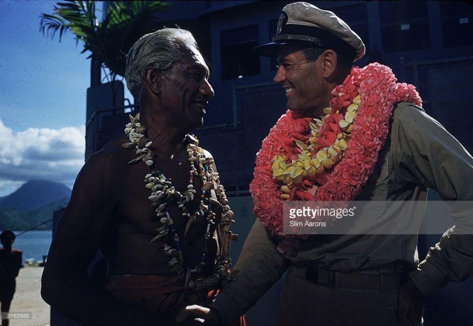 Duke Kahanamoku and Henry Fonda