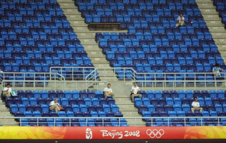 Empty Seats at Beijing Games