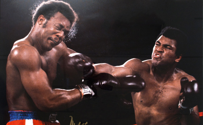 Muhammad Ali and George Foreman in Zaire