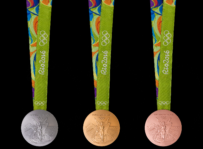 Rio Olympics silver gold and bronze medals