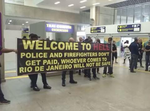 Police on strike in Brazil airport