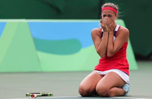 Monica Puig's tears of joy