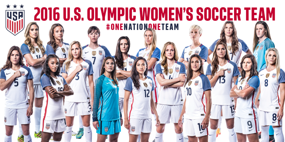 US Women's soccer team 2016
