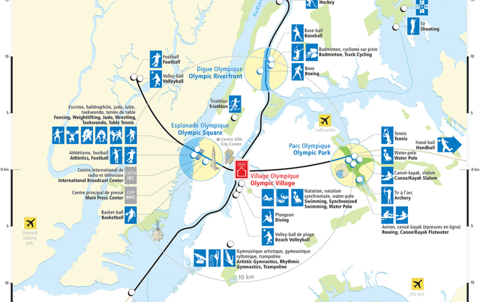 NYC2012 venue map