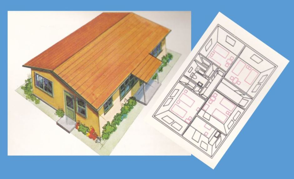 One-story wooden house dorm_XVIII Olympiad Bulletin No12