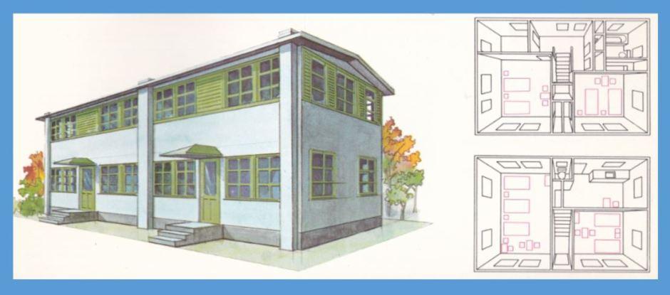 Two-story wooden house dorm_XVIII Olympiad Bulletin No12