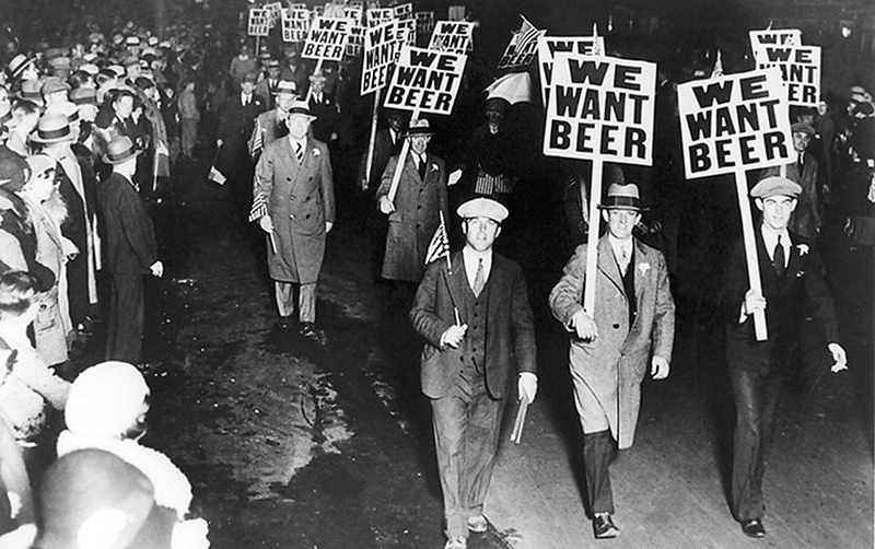 Anti prohibition protest in New York City