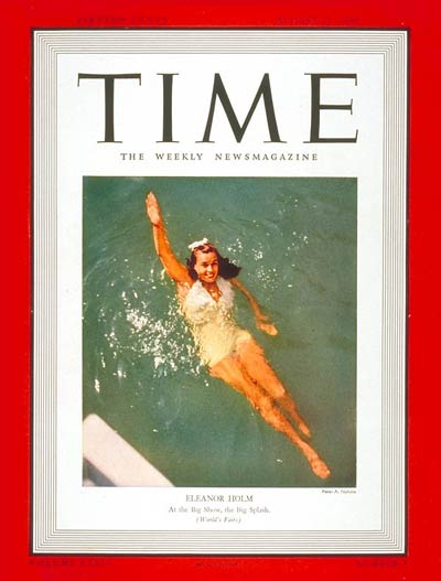 Eleanor Holm on cover of Time Magazine