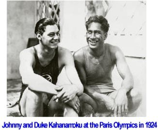 Johnny Weissmuller and Duke Kahanamoku 2