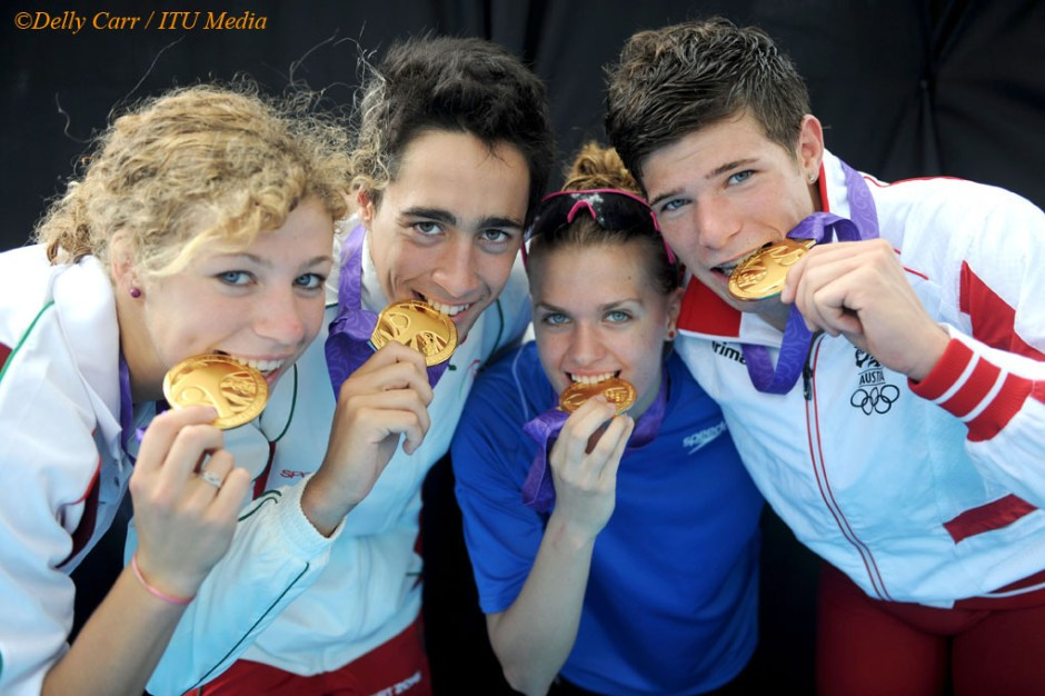 YOG winner of inaugural triathlon team relay - Europe 1