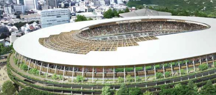 National Stadium design_Kengo Kuma 2