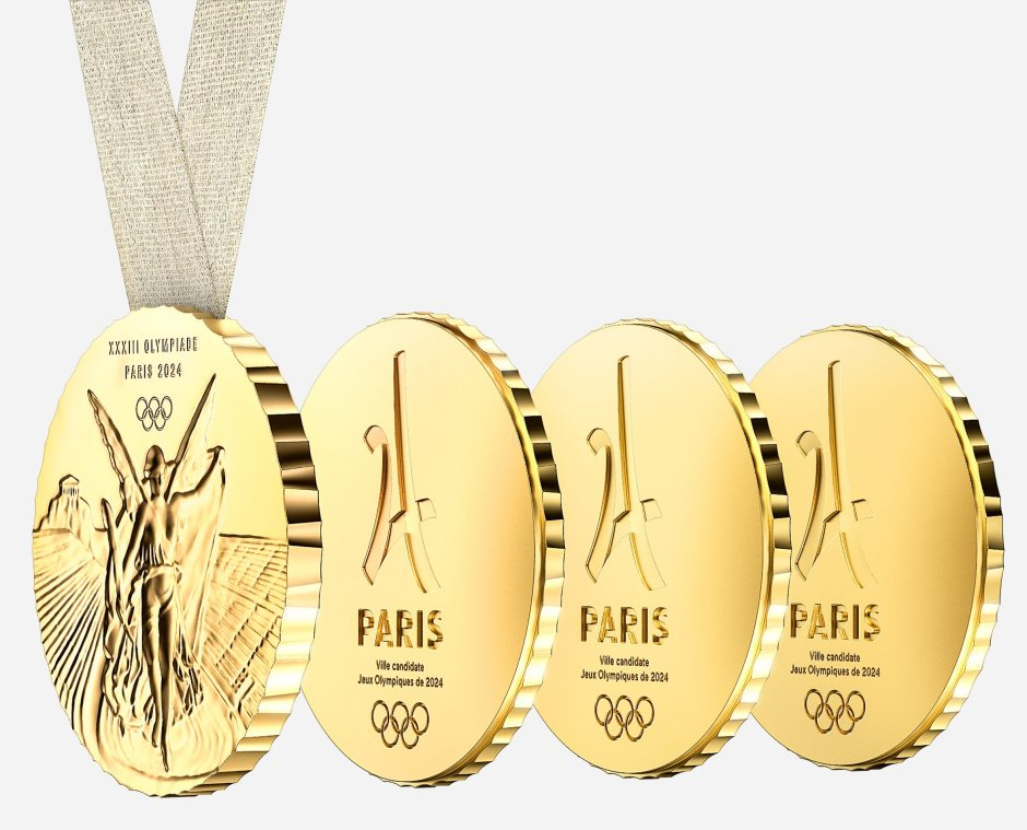 Starck four piece medal Paris 2024 1