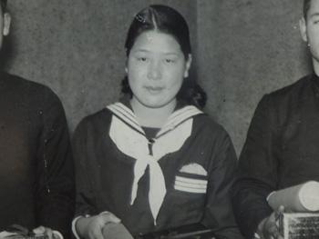Hideko Maehata in high school