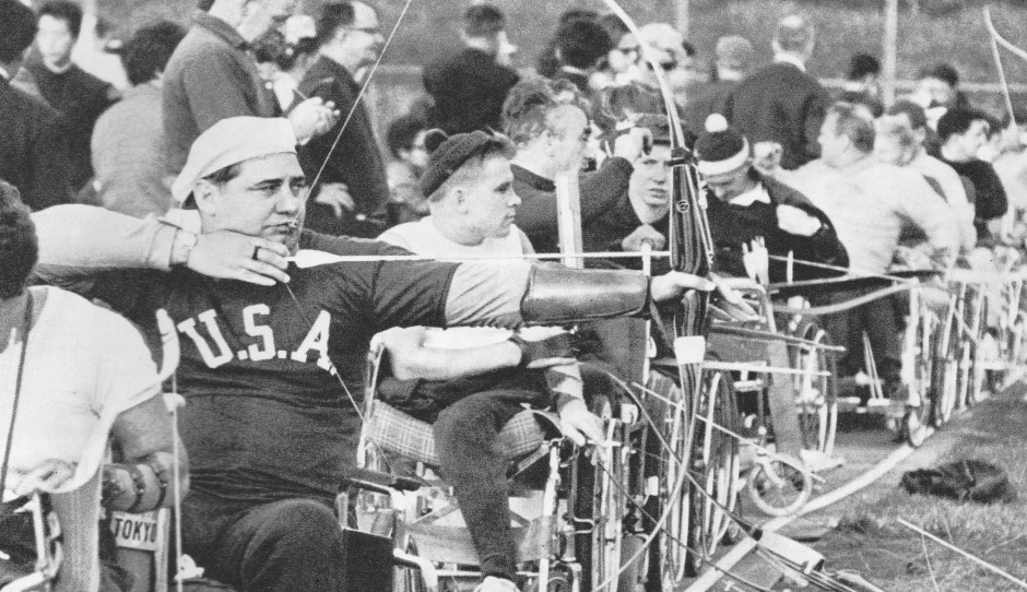 1964 Paralympics_dartchery