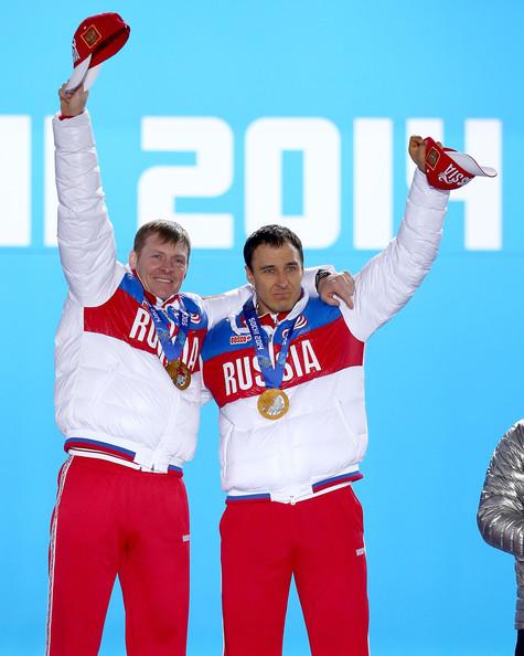 Alexander Zubkov (L) and Alexey Voyevoda