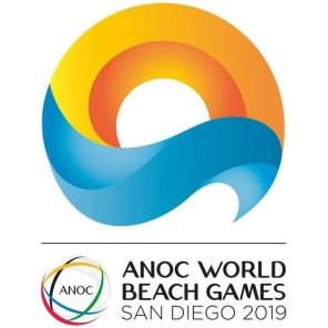 ANOC World Beach Games San Diego 2019 logo