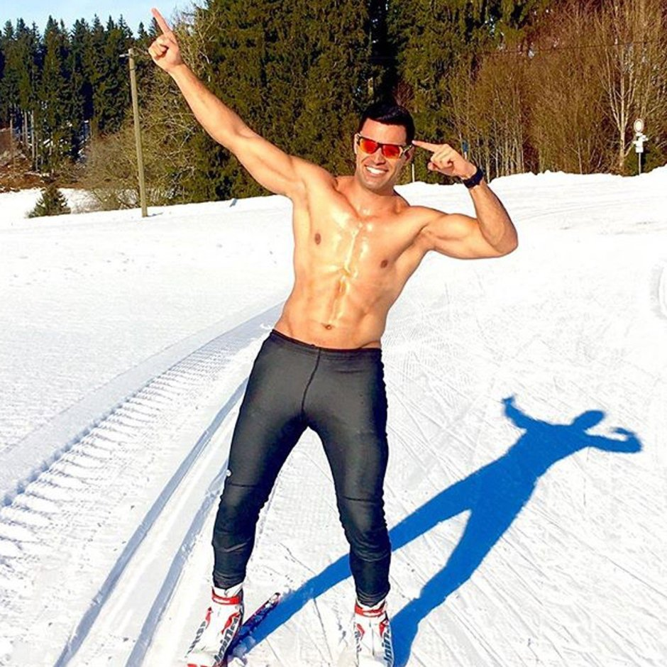 Pita Taufatofua on skis 2