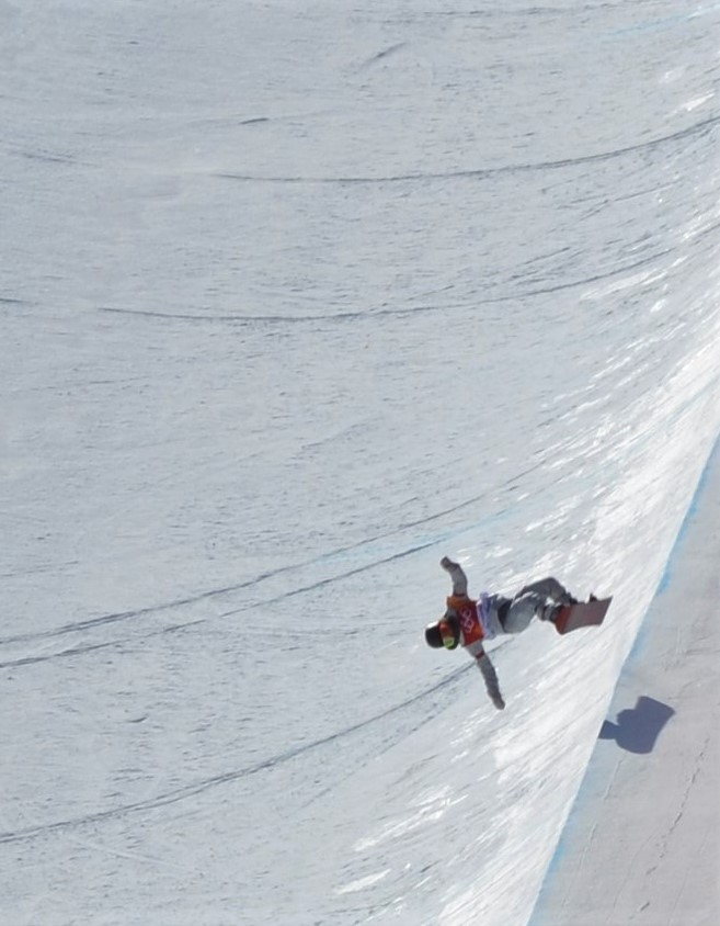 Chloe Kim in her first run
