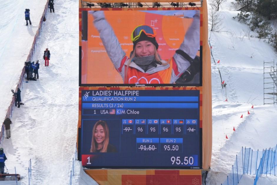 Chloe Kim_second run score