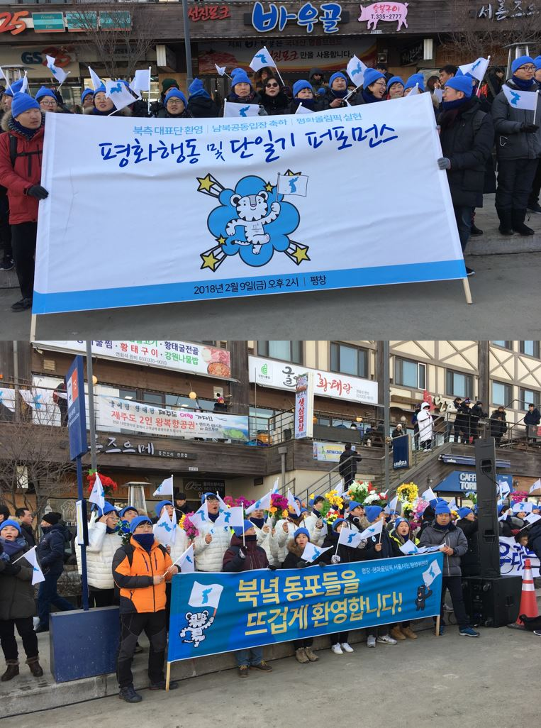 Pro United Korea Protest_PyeongChang_posters