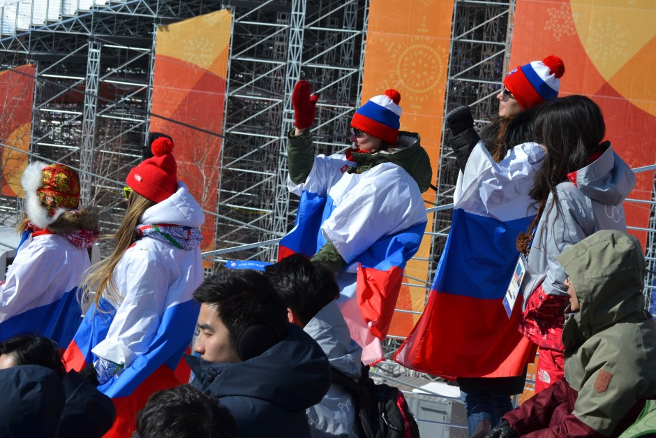 Russia Fans at Snowboading Slop style