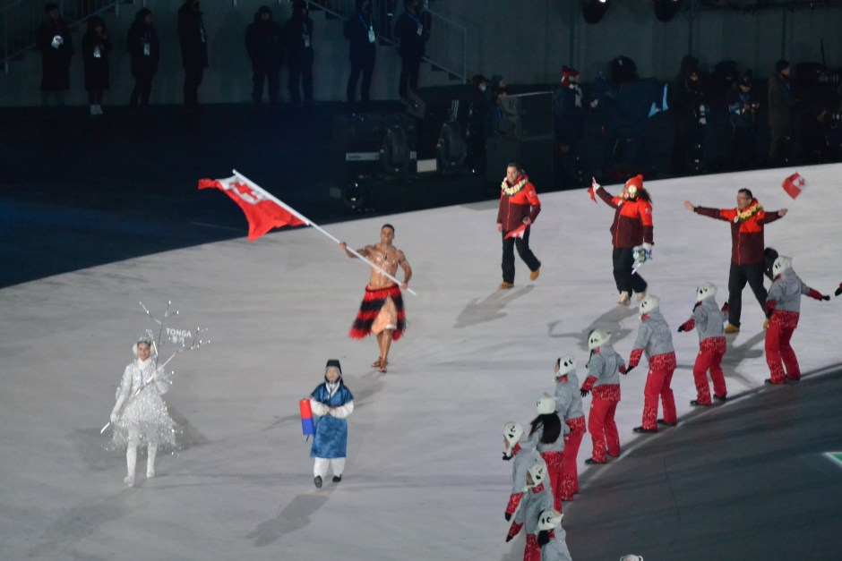 Tonga enters the Stadium