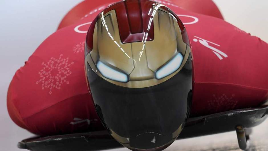 Yun Sung-Bin in his Iron Man helmet