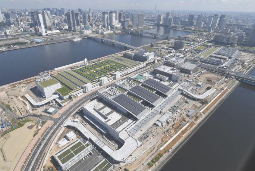 Toyosu aerial view