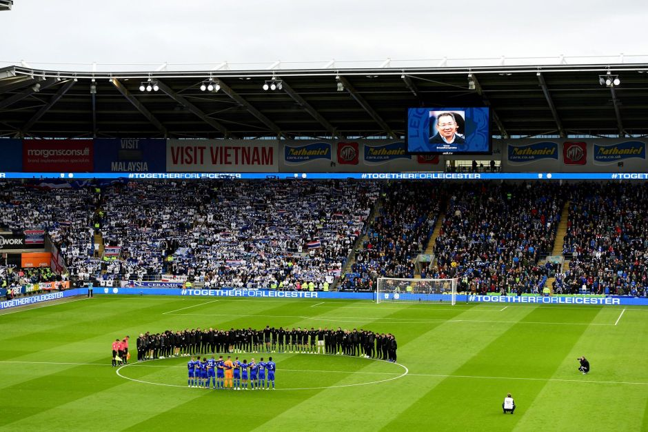 Leicester City Cardiff City moment of silence