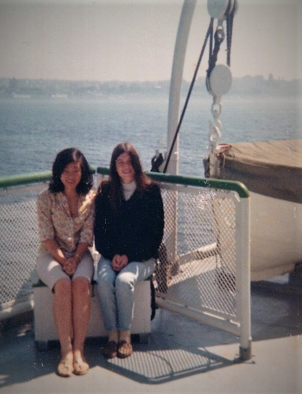 reiko kuramitsu and karen mittet_summer of 1967_bremerton ferry seattle