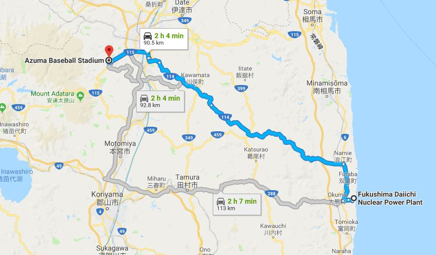 Azuma to Daiichi map