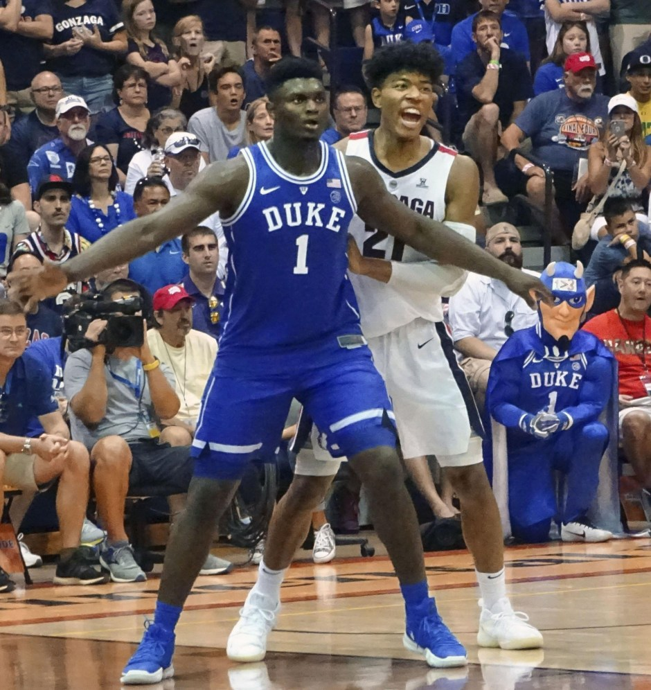 Zion Williamson and Rui Hachimura