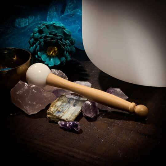 rubber mallet striker for crystal singing bowl