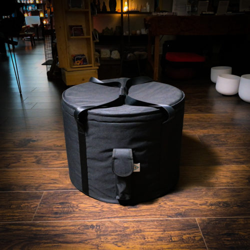 large crystal singing bowl carry case