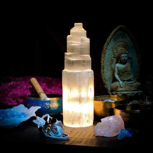 Selenite Lamp Medium