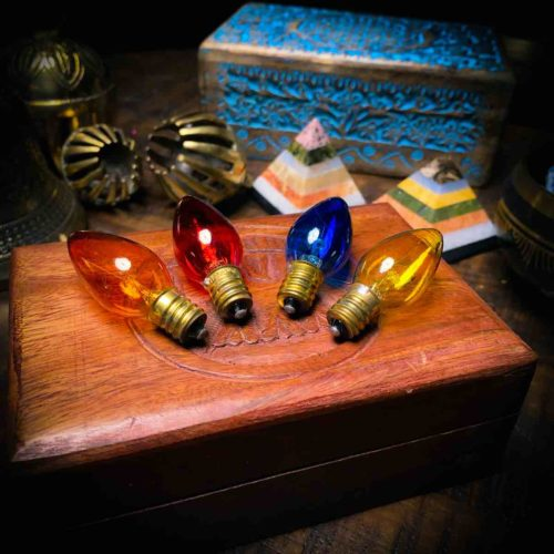 Color Bulbs for Crystal Lamps
