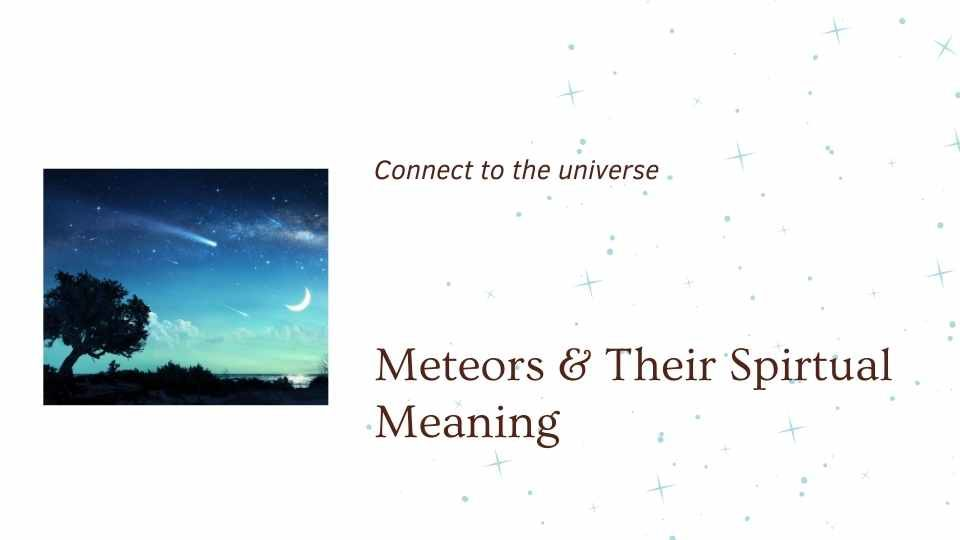 blog from the om shoppe showing a image of the night sky saying meteor showers and their spirtual meanings