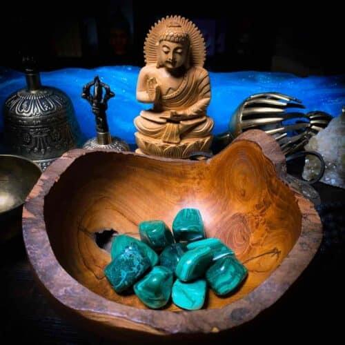 Malachite Tumbled Crystal for Meditation
