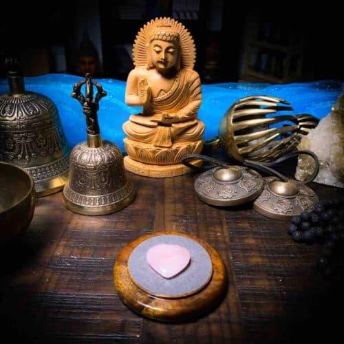 Rose Quartz Heart for Meditation