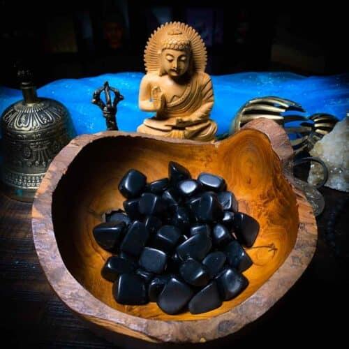 Shungite tumbled, for meditation